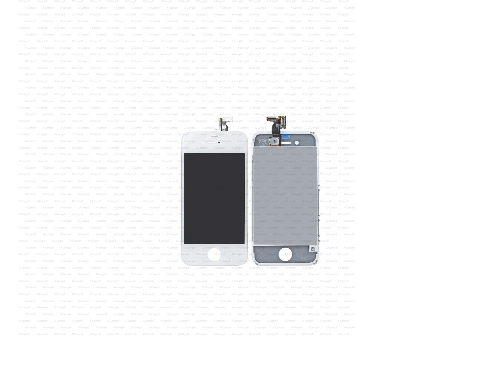 3,5'' Touchscreen Glass inkl.Digitizer Sensor Weiss für iPhone 4s
